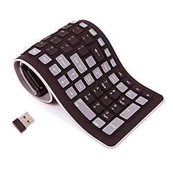Foldable wireless keyboard