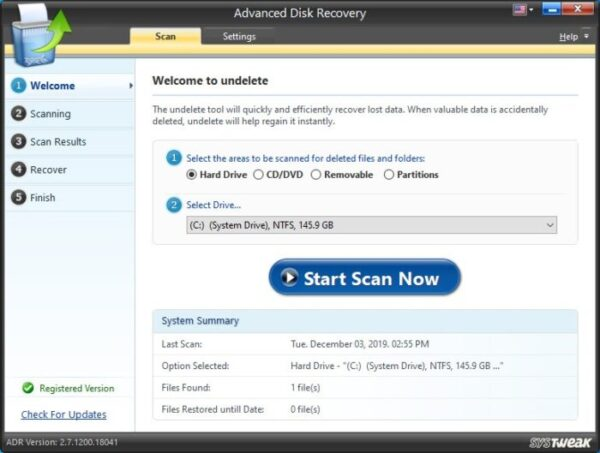 Windows 10 using Data Recovery Software