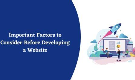 factors to develop a website