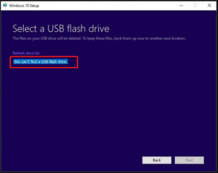 How to Fix Windows 10 Media Creation Tool Can't Find USB